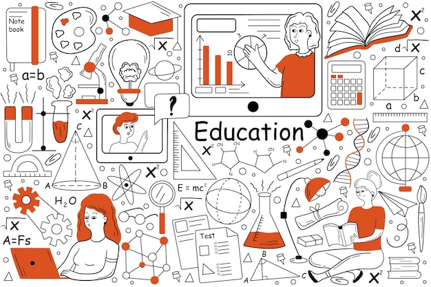 Bildungs-doodle-set