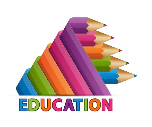 Bildungs-symbol buntstifte.