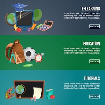 Bildungsbanner-set