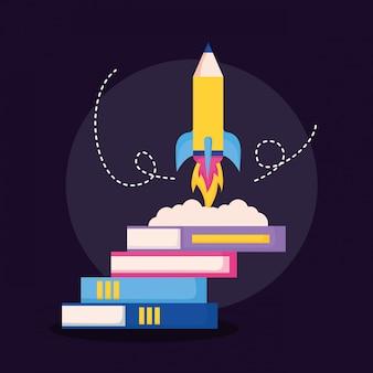 Bildungsbedarf in flachen stil