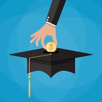 Bildungseinsparungen und investitionskonzept
