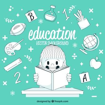 Bildungshintergrund in der flachen art