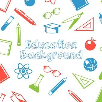 Bildungshintergrund mit elementen