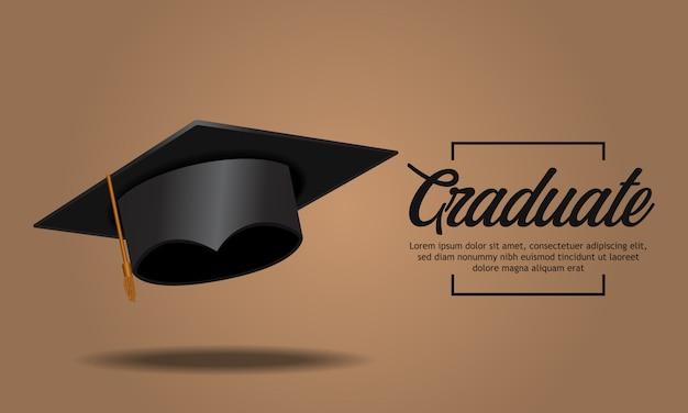 Bildungskonzept-abschlussfeier mit kappe