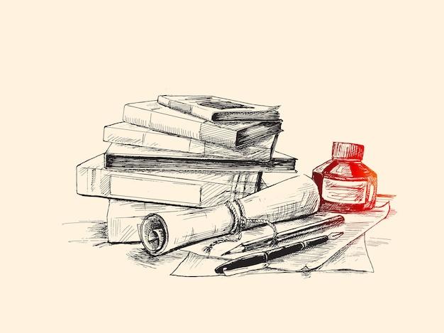Bildungskonzept hand gezeichnete skizze vektor-illustration