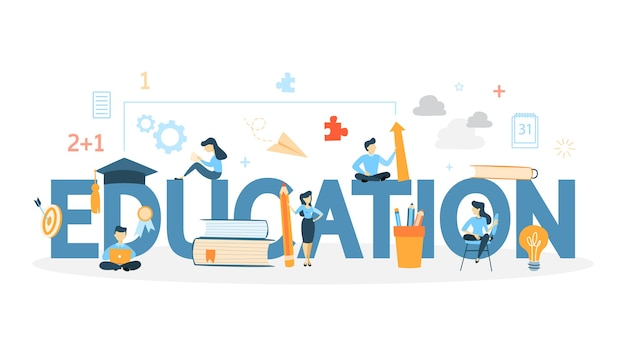 Bildungskonzeptillustration. idee neu zu lernen.
