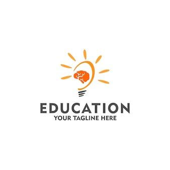 Bildungslogokonzept isoliert in weißem hintergrund