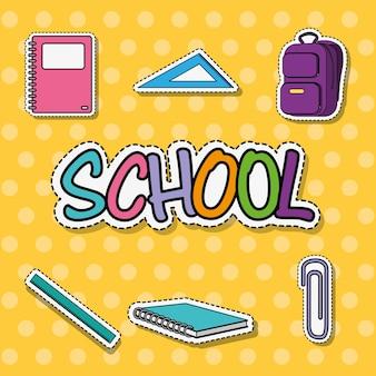 Bildungsschule werkzeug patches aufkleber