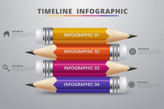 Bildungsstift infografik schrittoption