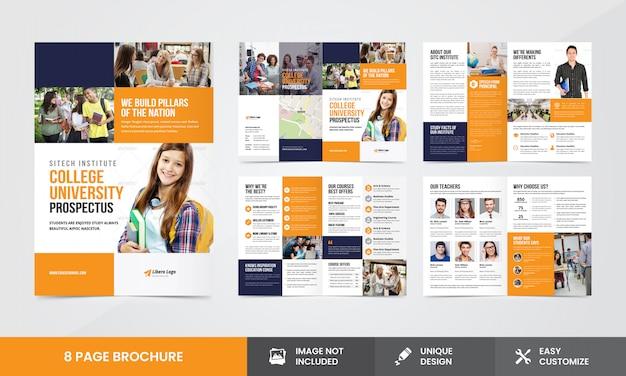 Bildungsunternehmen broschüren vorlage