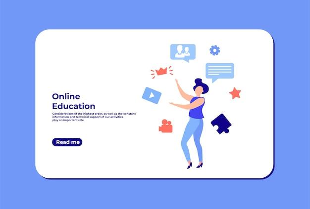 Bildungswebinar digitales publikum online-klasse das konzept der modernen bildung