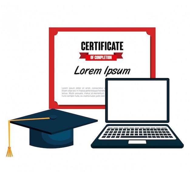 Bildungszertifikat design