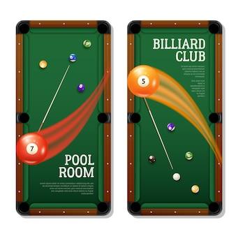 Billard banner set
