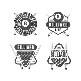 Billard design logo set