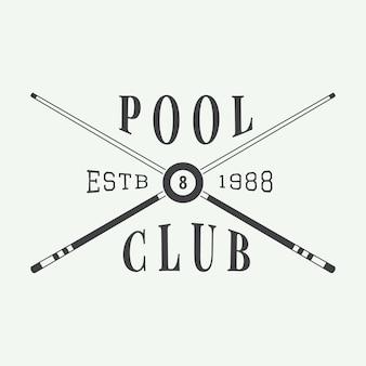 Billard-emblem und logo
