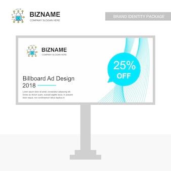 Billboard design mit cyber-sicherheit-logo