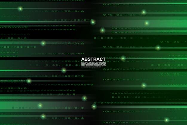 Binärer zukünftiger digitaltechnikhintergrund des grünen cybers