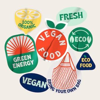 Bio-bio-etiketten umweltfreundliches design