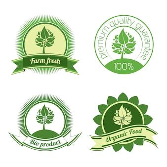 Bio-etiketten und elemente