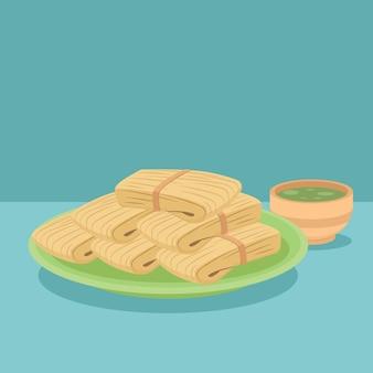 Bio flache leckere tamales