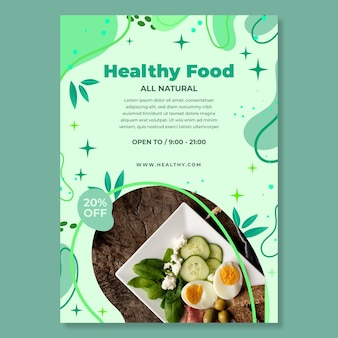 Bio & gesunder lebensmittel flyer