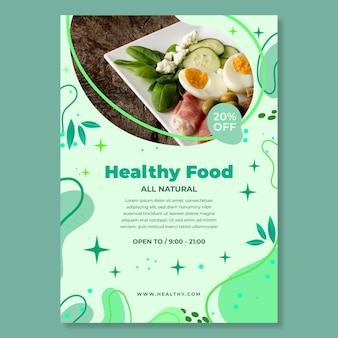 Bio & gesundes lebensmittel poster