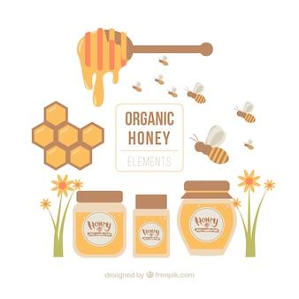 Bio-honig-objekte festgelegt