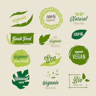 Bio-label und natürliches farm-fresh-label.