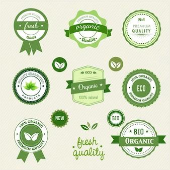 Bio-lebensmittel-etiketten