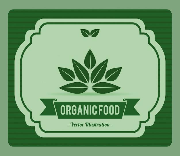 Bio-lebensmittel-label-illustration