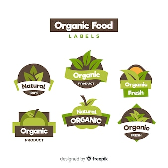 Bio-lebensmittel-label-sammlung
