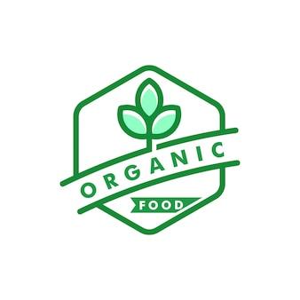 Bio-logo für naturkost-design-ikonenvektor
