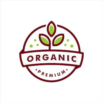 Bio-logo-vorlage-etikett-vektor-illustration. emblem für landwirtschaftliche produkte. blatt-icon-design