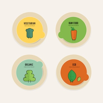 Bio natürliches label. eco banner-vektor-design.
