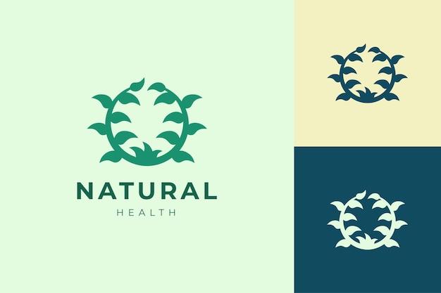 Bio-pflanzenlogoschablone für landwirtschafts- und gesundheitsprodukt