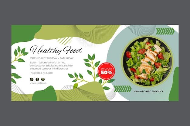 Bio und gesunde lebensmittel banner vorlage