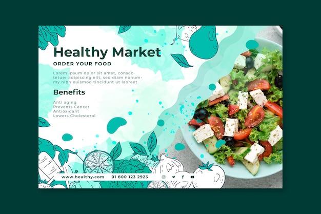 Bio und gesunde lebensmittel banner