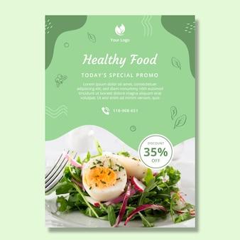 Bio und gesunde lebensmittel poster vorlage