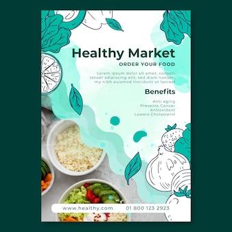 Bio- und gesunde lebensmittelplakat