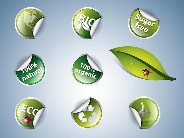 Bio- und öko-aufkleber
