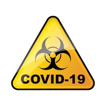 Biohazard coronavirus zeichen. kein covid-19-zeichen.