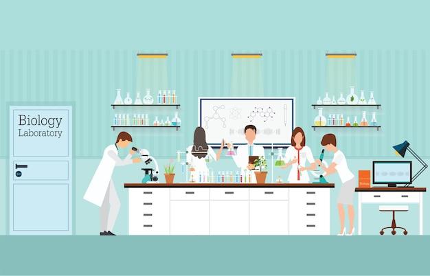 Biologie-wissenschaftslaborinnenraum