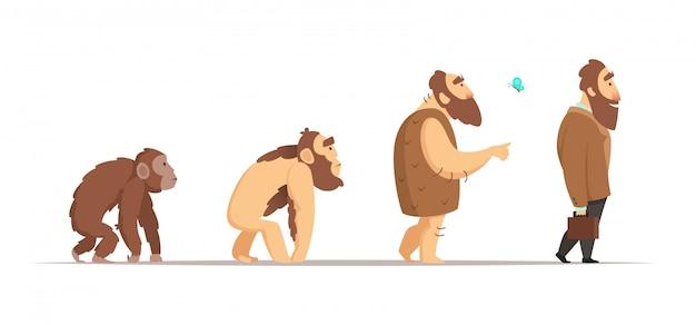 Biologische entwicklung des homo sapiens.