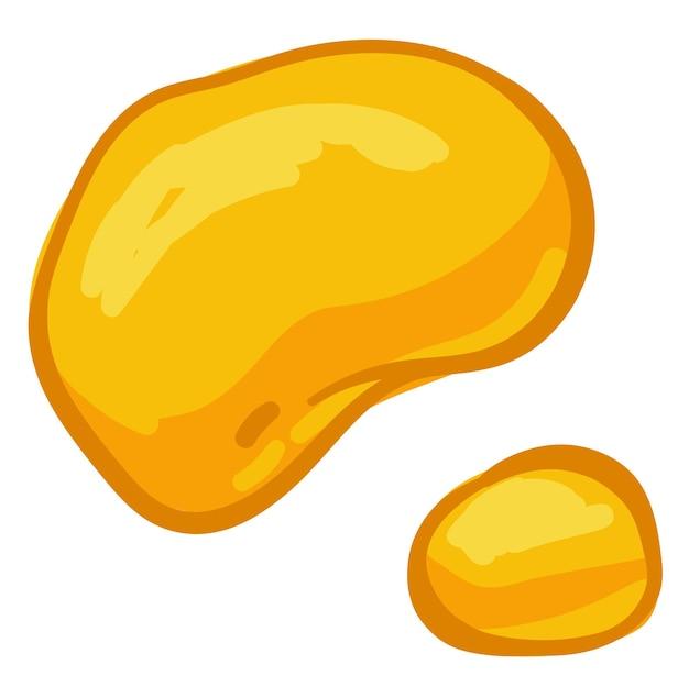 Biologischer und natürlicher süßstoff zum backen und essen, isolierte honigtropfen. goldener nektar oder sirup. hausgemachte bioprodukte, imkerei und bienenzucht. vektor im flachen stil, illustration