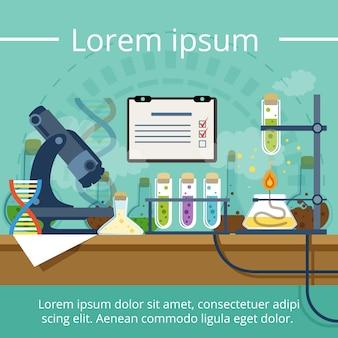 Biologisches oder chemisches labor für verschiedene experimente
