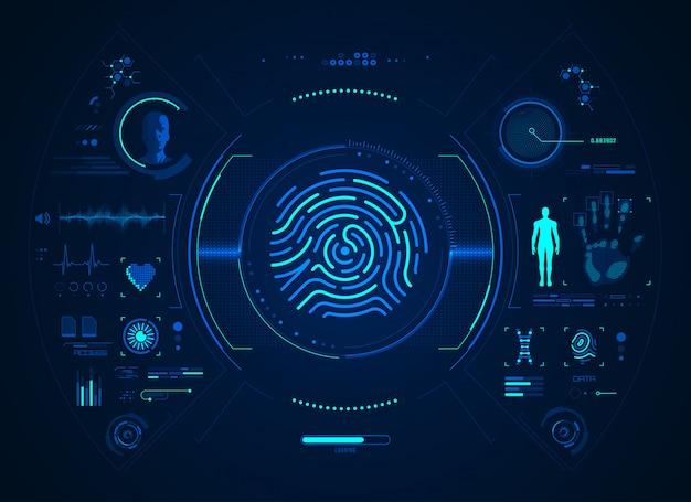 Biometrische benutzeroberfläche für fingerabdrücke