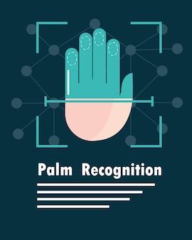 Biometrische handflächenerkennung