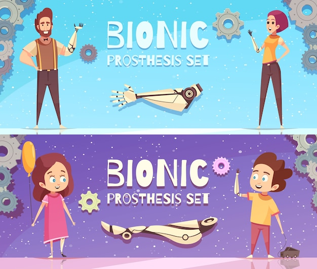 Bionic prothese banner set