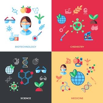 Biotechnologie-ikonen-sammlung