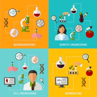 Biotechnologie-konzeptset